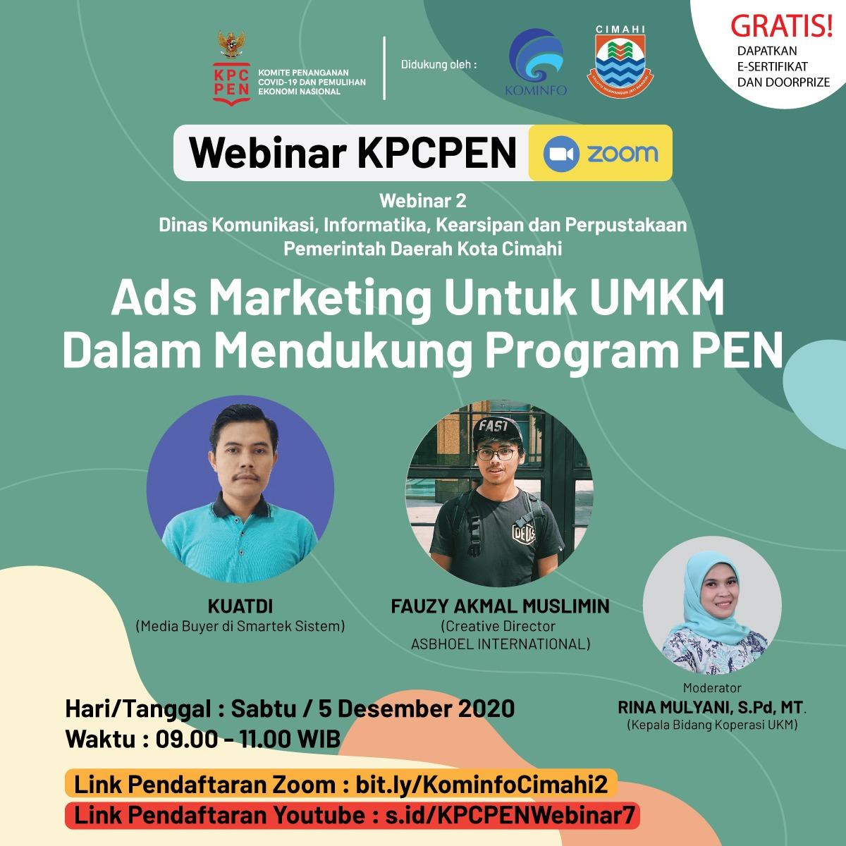 Webinar Ads Marketing Untuk UMKM Dalam Mendukung Program PEN