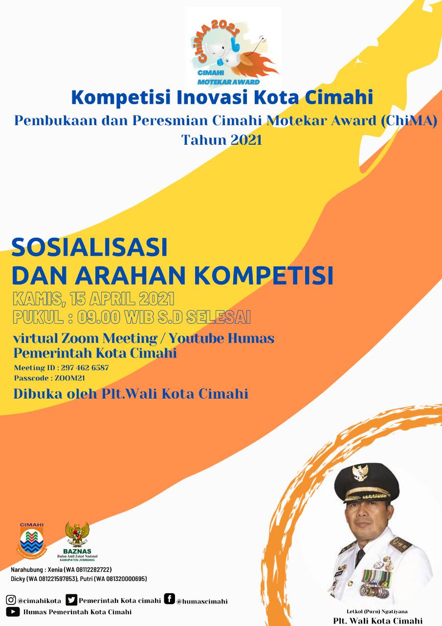 Sosialisasi dan Arahan Kompetisi Inovasi Cimahi Motekar Award ( ChiMA) Tahun 2021