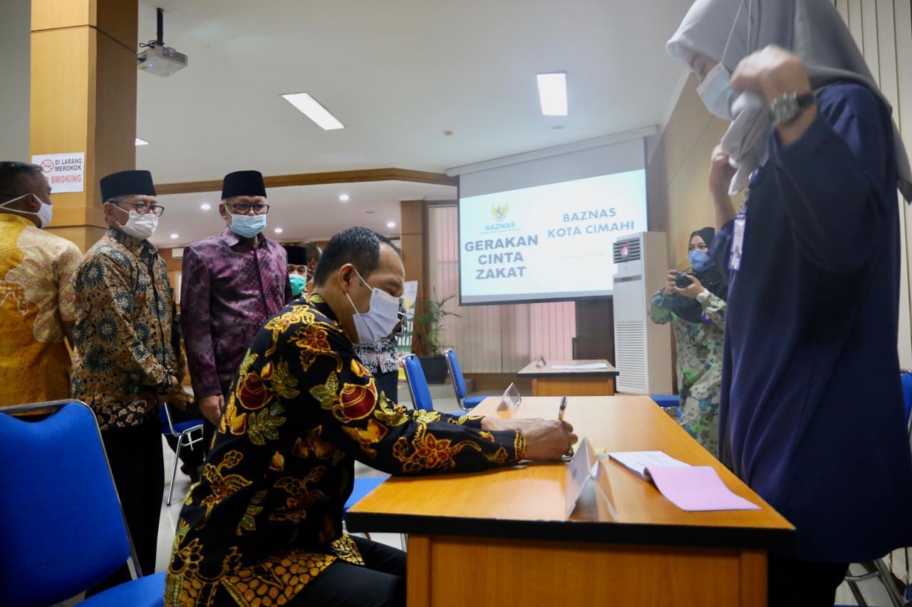 Pemkot Cimahi Launching Pembayaran Zakat Fitrah 1442 Hijriyah