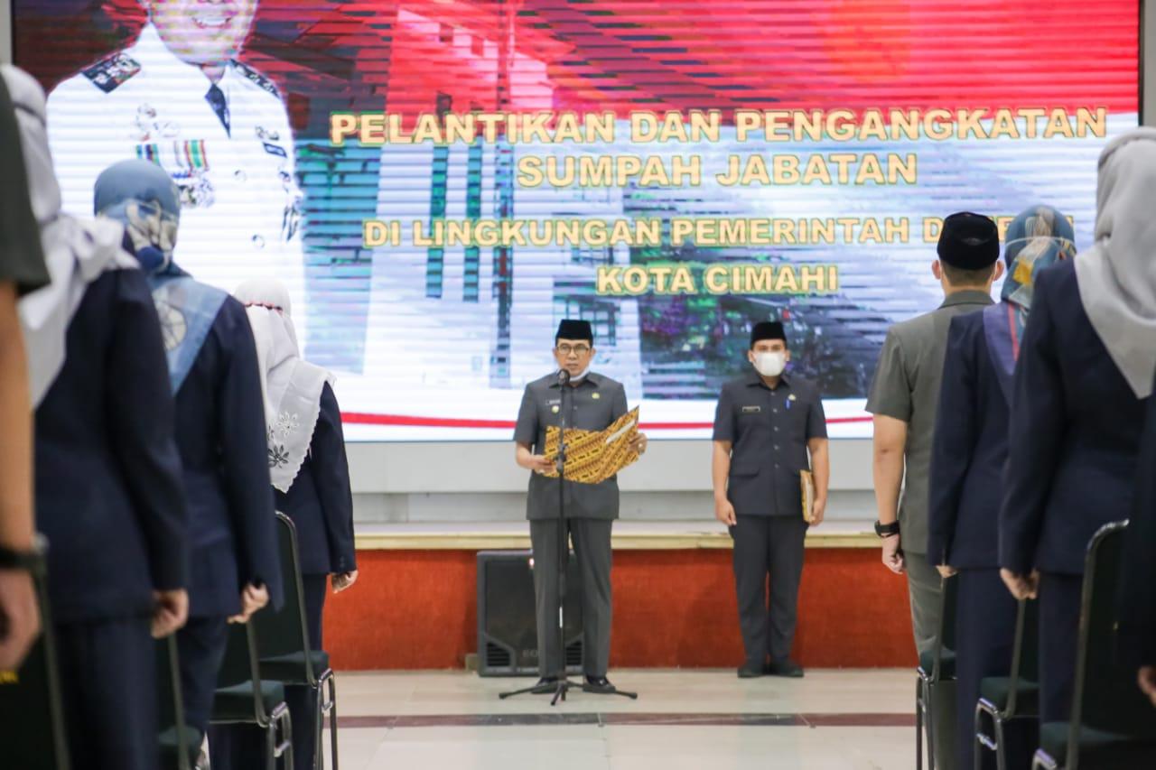 Plt. Walikota Cimahi Lantik 53 Orang Pejabat Fungsional Tertentu