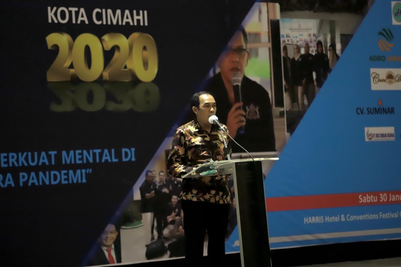 Hadiri Rapim Kadin Kota Cimahi, Plt. Wali Kota Ajak Para Pengusaha Untuk Berkolaborasi Demi Memajukan Perekonomian Cimahi