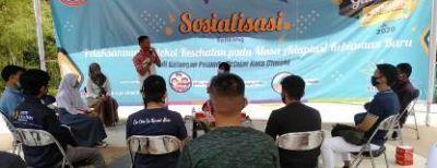 Pemuda dan Pelajar Kota Cimahi Digandeng Jadi Relawan Sosialisasi Protokol Kesehatan di Masa AKB