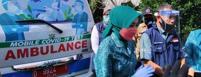 Ajay-Atalia Pantau Swab Test di Kelurahan Karangmekar