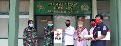 PMI Kota Cimahi Serahkan Bantuan untuk Tim Medis Penananganan Covid 19 Rumah Sakit Dustira